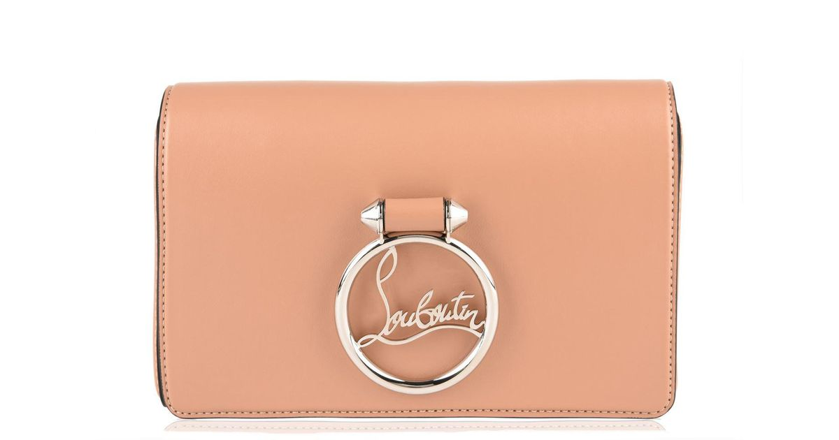 6ba39ff94062 Christian Louboutin Rubylou Clutch in Natural - Save 48% - Lyst