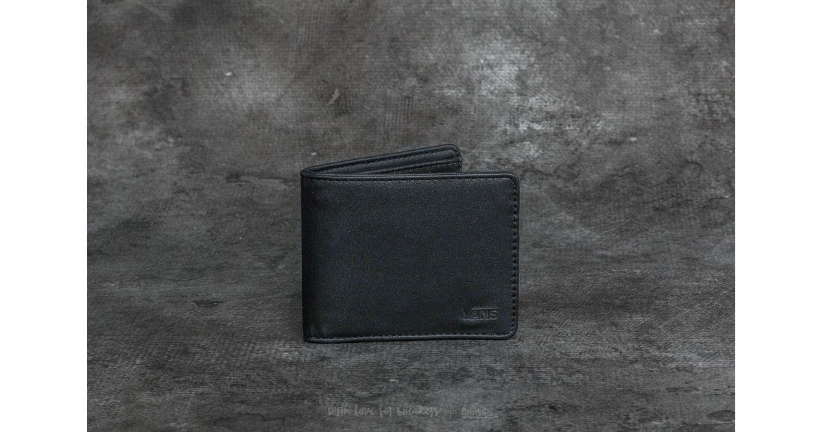 1023d1bd99f129 Lyst - Vans Drop V Bifold Wallet Black in Black for Men