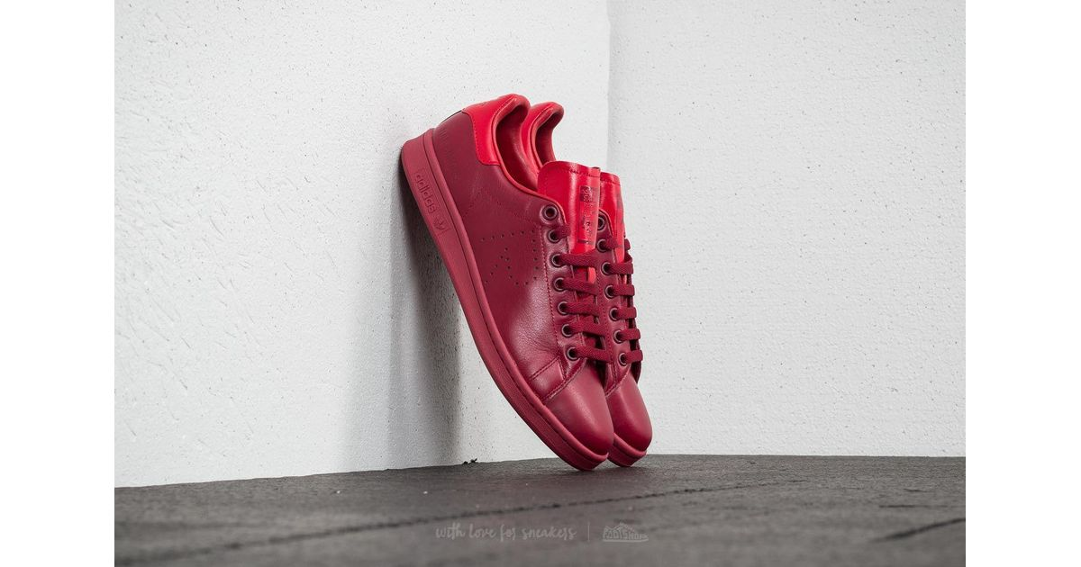 4429753b3ec2 Lyst - Footshop Adidas X Raf Simons Stan Smith Core Burgundy  Power Red   Core Burgundy in Red for Men