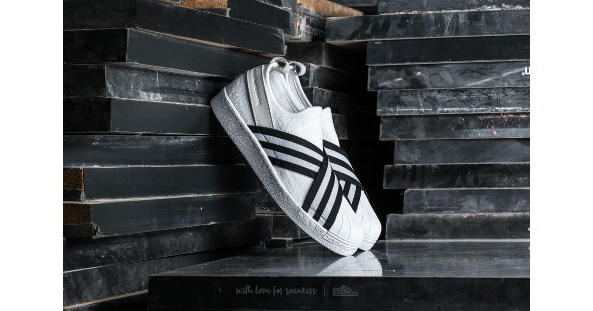 d8c3ee1270cc Lyst - adidas Originals Adidas White Mountaineering Superstar Slip On  Primeknit Footwear White  Core Black  Footwear White in White for Men