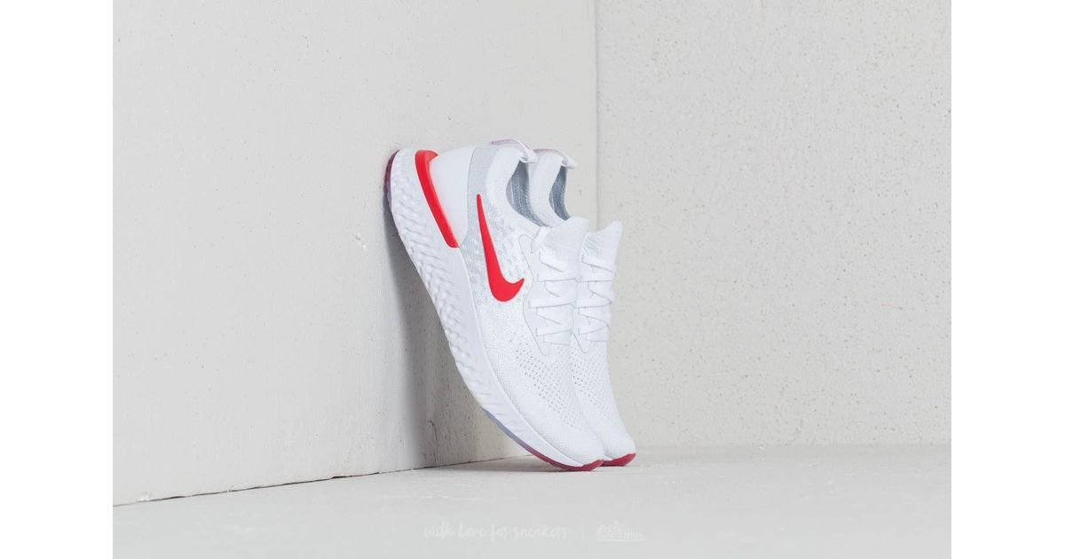 92289f6c7554 ... canada lyst nike epic react flyknit gs white university red in white  for men bea46 e3410