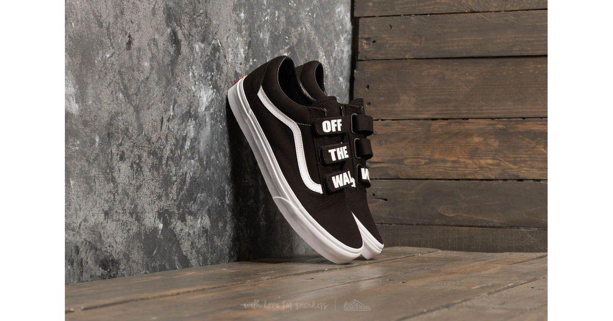 b40bb1727b0 Lyst - Vans Old Skool V (off The Wall) Black  True White in Black for Men