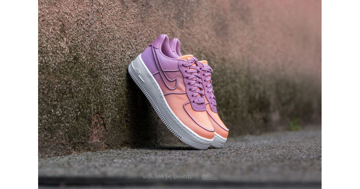uk availability 4bfd9 ca4a8 Nike W Air Force 1 Low Upstep Br Orchid/ White-sunset Glow - Lyst