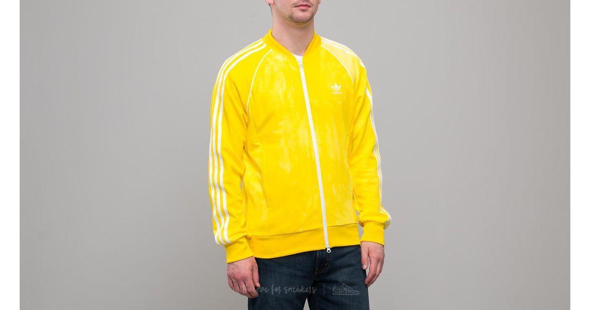 Adidas Originals Adidas X Pharrell Williams Hu Holi Superstar Track Top Yellow for men