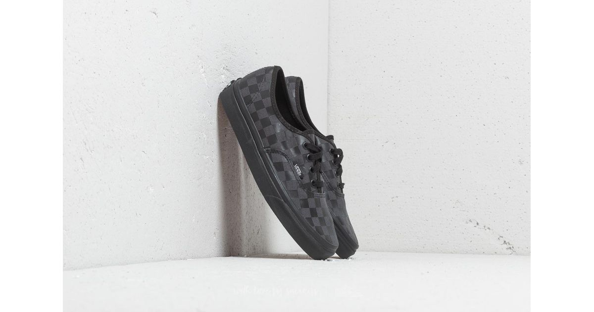 2f1ced8b3c64 Lyst - Vans Authentic (high Density) Black  Checkerboard in Black for Men