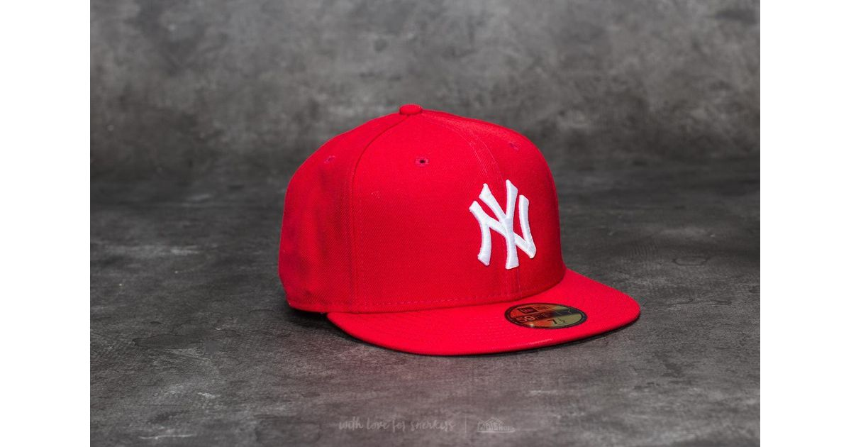 494a8313 Lyst - KTZ 59fifty Mlb Basic New York Yankees Cap Scarlet/ White in Red for  Men