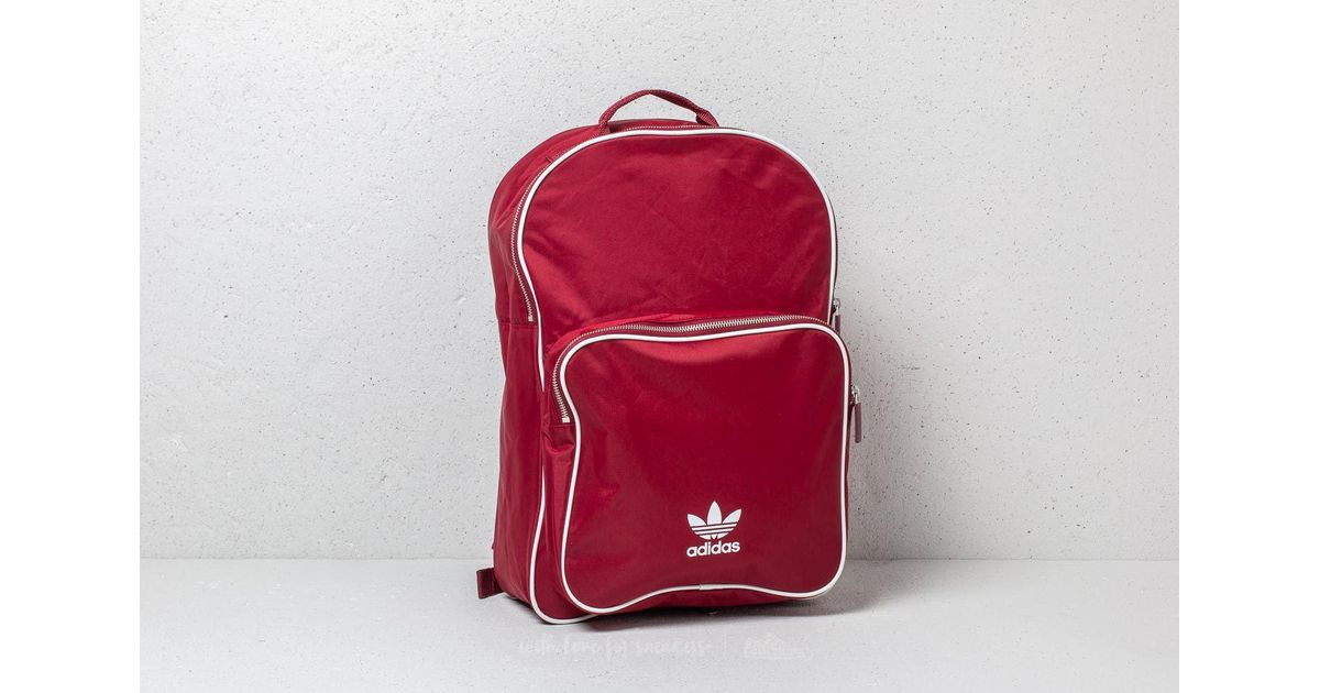 4e9b357ee3db Lyst - Adidas Originals Adidas Classic Adicolor Backpack Collegiate Burgundy  in Red
