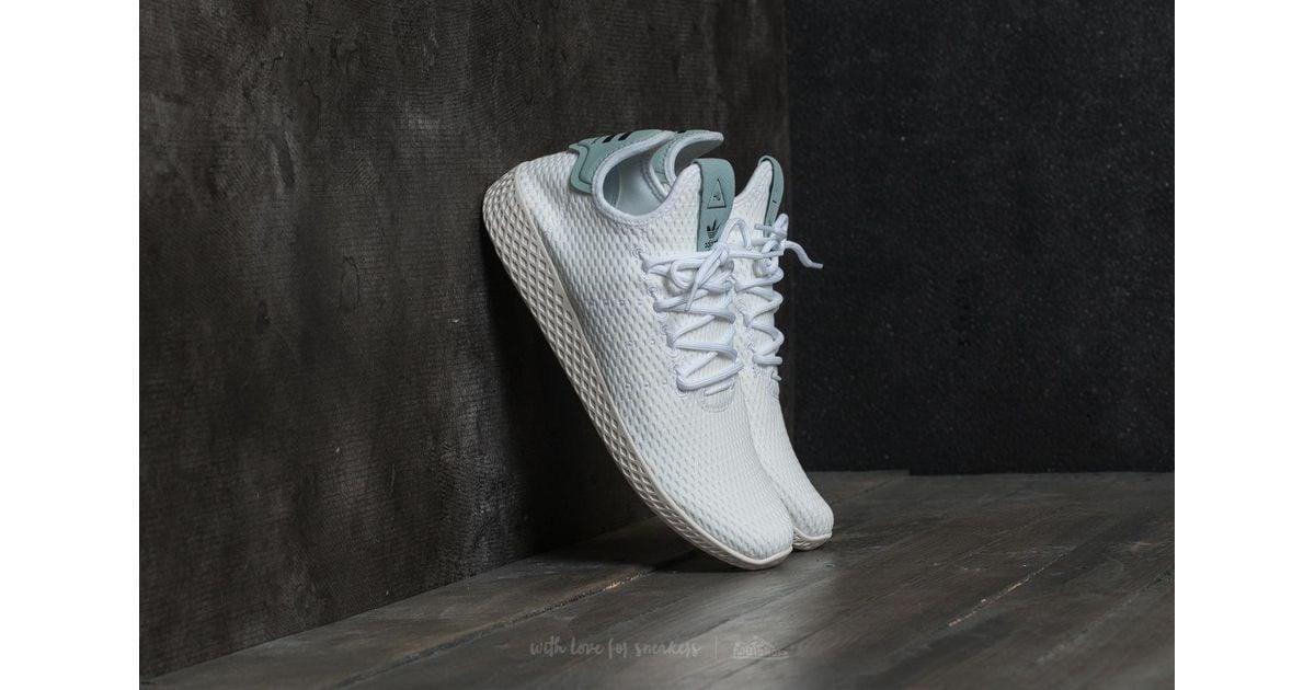 cb9cd9302ae7c Lyst - adidas Originals Adidas Pharrell Williams Pw Tennis Hu Ftw White   Ftw White  Tactile Green in White