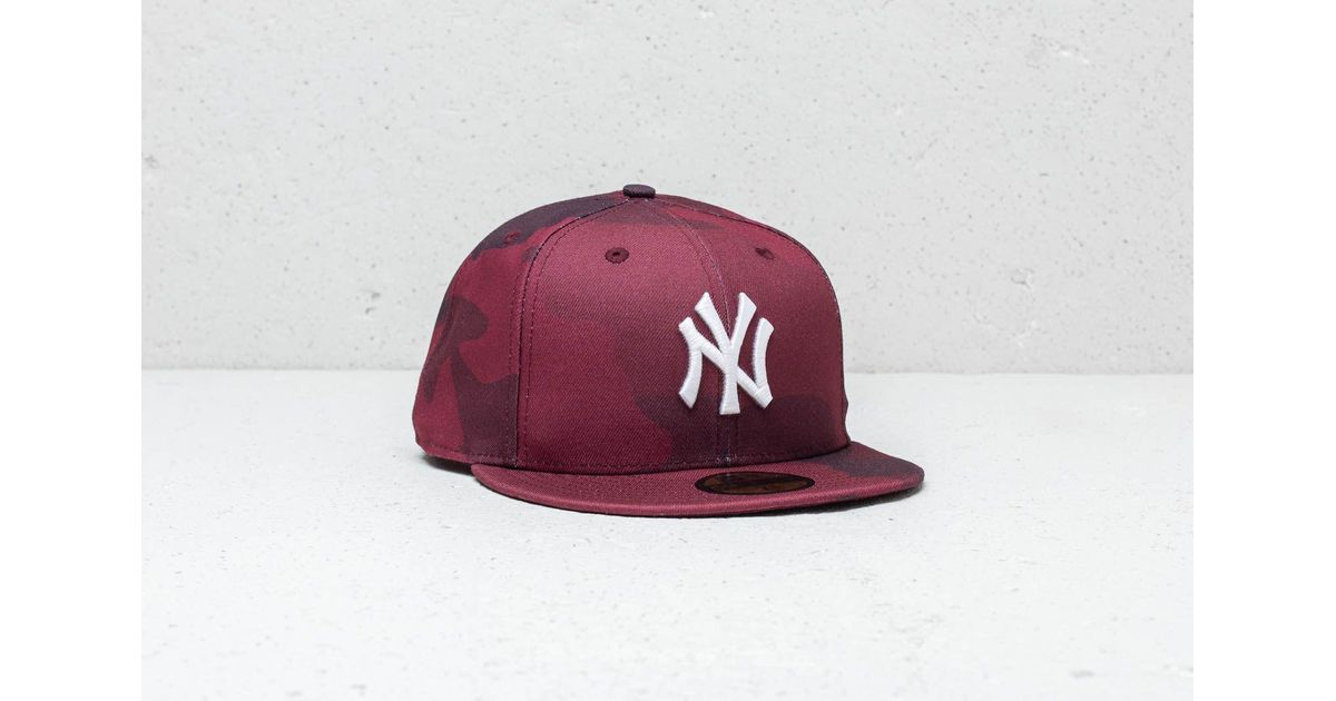 29cdde4d KTZ 59fifty Mlb New York Yankees Fitted Cap Red Camo in Red for Men - Lyst