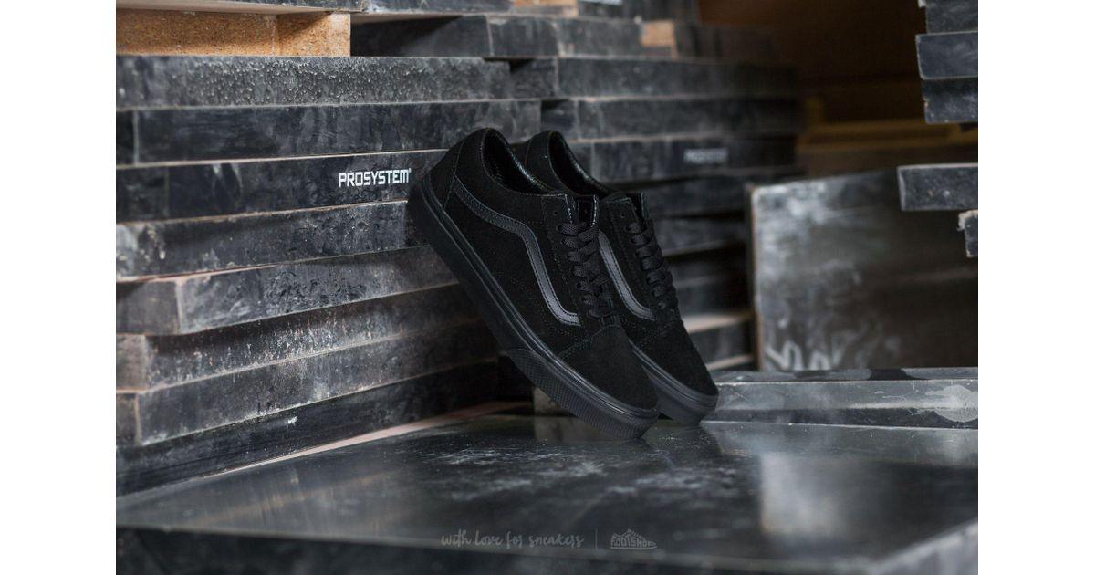 cd1166535a08d3 Lyst - Vans Old Skool (suede)black  Black  Black in Black
