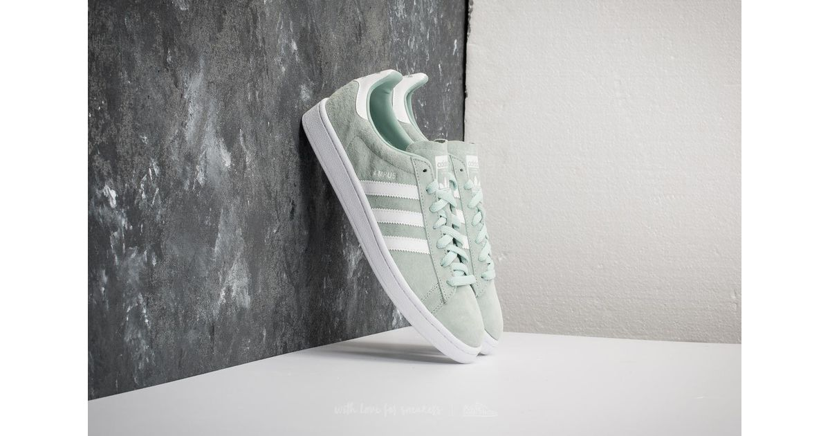 bac559145c3 Lyst - adidas Originals Adidas Campus Ash Green  Ftw White  Ftw White in  White for Men - Save 18%