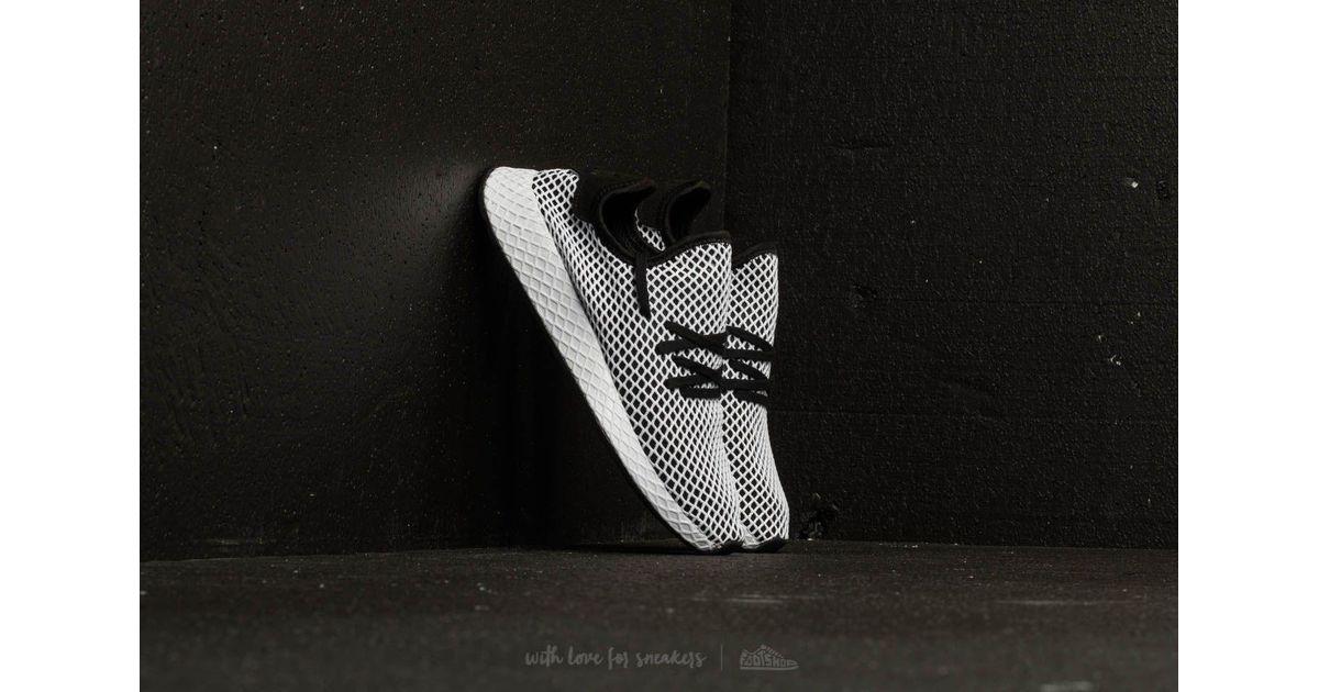 adidas originali adidas deerupt runner nucleo nero / nucleo nero / bianco per gli uomini lyst ftw
