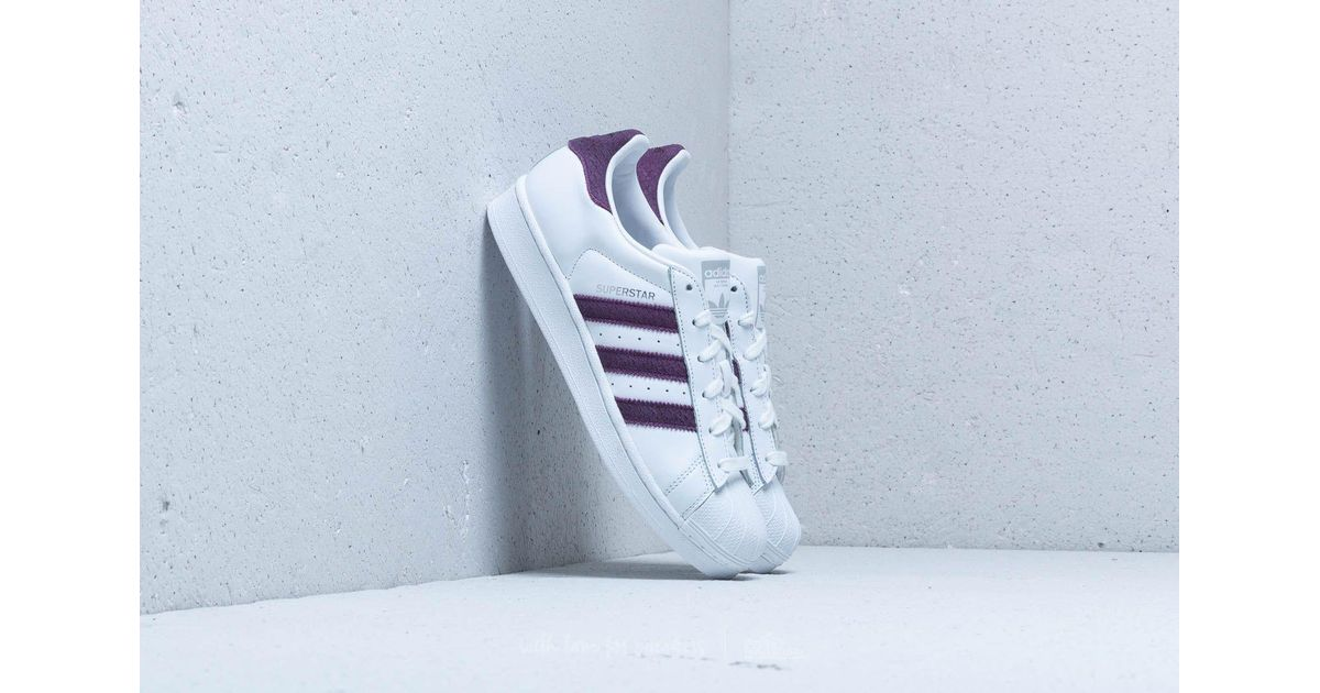 Lyst - adidas Originals Adidas Superstar W Ftw White  Red Night  Silver  Metallic c4525b775