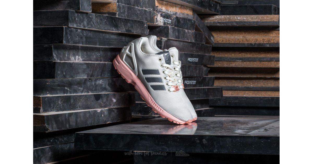 7705fa864 Lyst - adidas Originals Adidas Zx Flux W Ftw White  Metallic Silver  Haze  Coral in Metallic