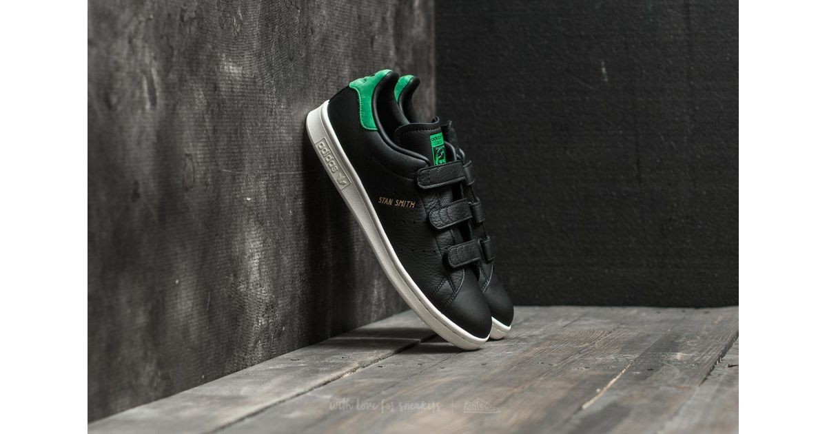 394eab72450 Lyst - adidas Originals Adidas Stan Smith Cf Core Black  Core Black  Green  in Black for Men