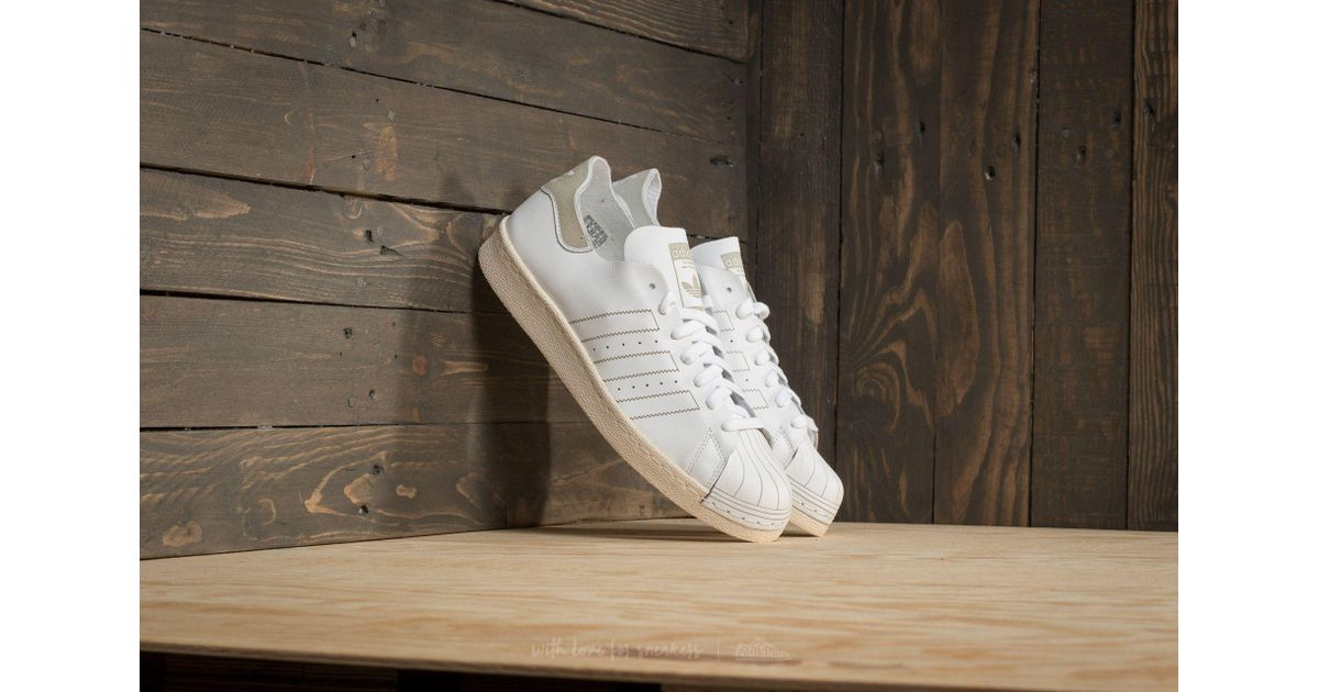 huge selection of 57c45 477e9 Lyst - adidas Originals Adidas Superstar 80s Decon Ftw White  Ftw White  Vintage  White in White for Men