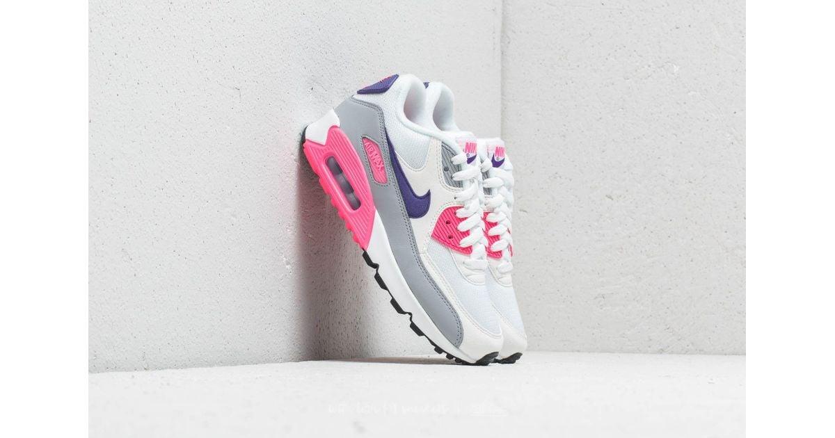 Lyst - Nike Wmns Air Max 90 White  Court Purple-wolf Grey e8201e9174