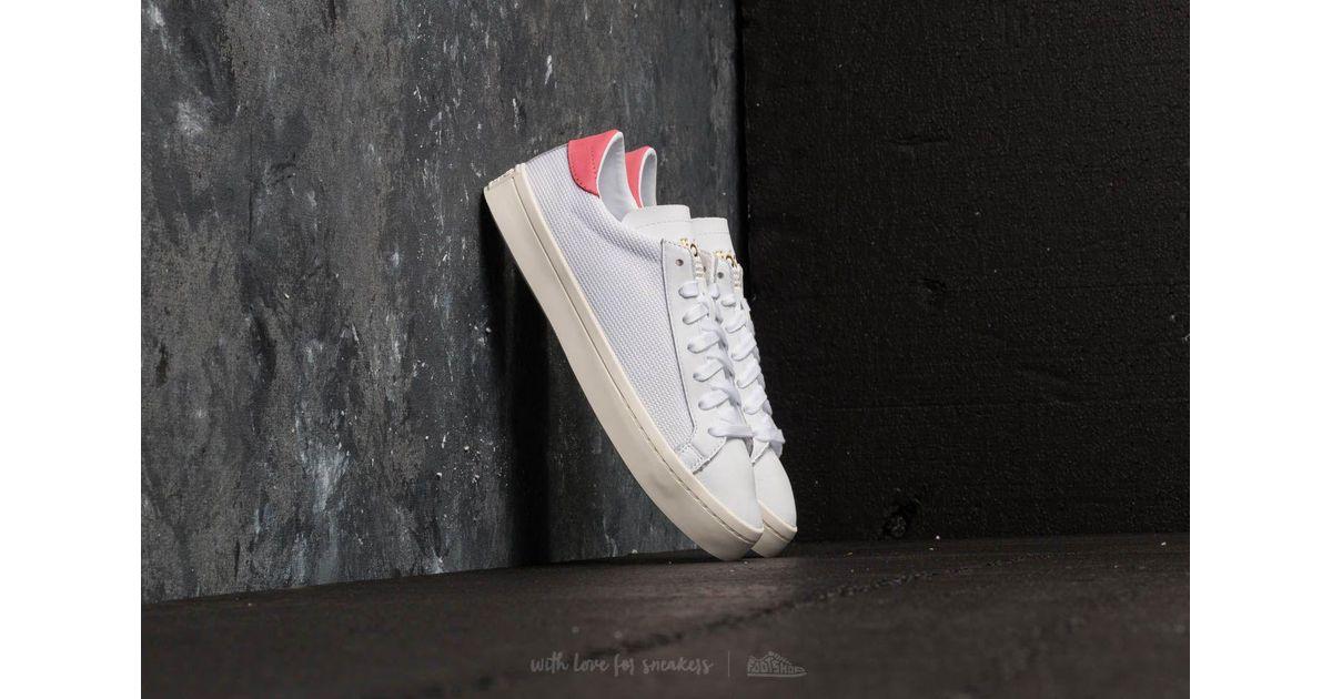 4f69b1e2cc4a Lyst - adidas Originals Adidas Courtvantage Ftw White  Ftw White  Chalk  Pink in White for Men