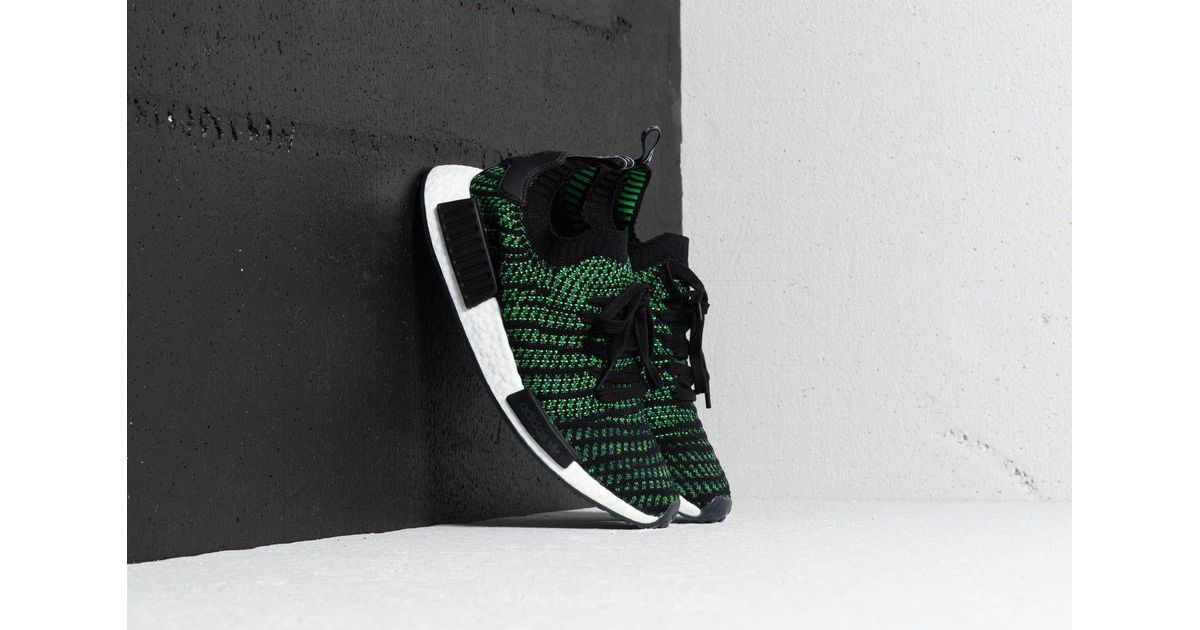 b44eaddf8ea59 Lyst - adidas Originals Adidas Nmd r1 Stlt Primeknit Black  Green  White  for Men