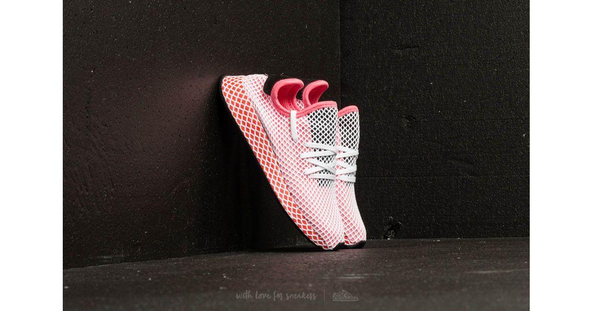 cheaper 7d5f9 dc053 Lyst - adidas Originals Adidas Deerupt Runner W Chalk Pink  Chalk Pink   Bold Orange in Pink