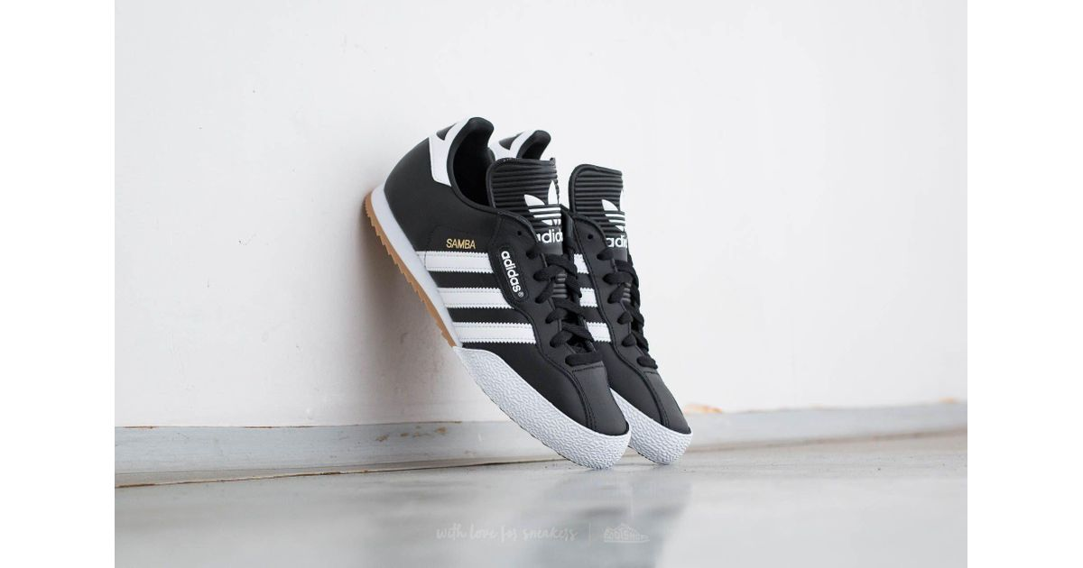 sports shoes 3f990 11112 where to buy lyst adidas originals adidas samba super black run white for  men 701b9 4a86f