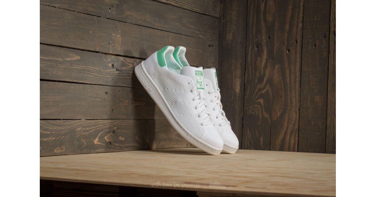 hot sale online cd4aa 15aeb Lyst - adidas Originals Adidas Stan Smith Primeknit Ftw White Ftw White  Green Glow in White for Men