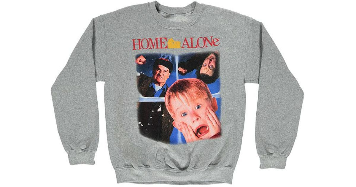 Sweatshirt Men Home In Graphic Alone Lyst 21 Forever Gray For qOSOB