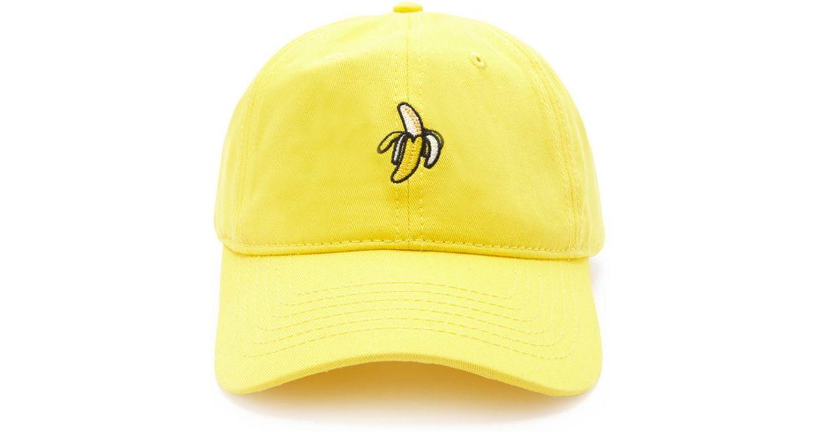 Lyst - Forever 21 Men Banana Graphic Baseball Cap in Yellow for Men b0c6c0de722