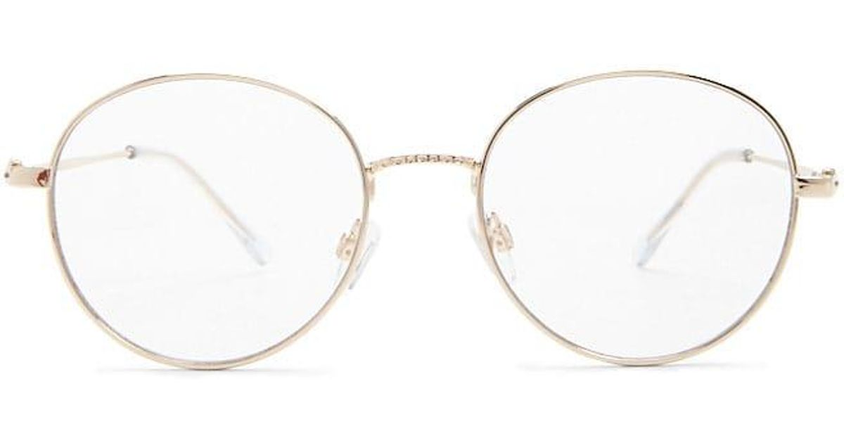 b184346b463a7 Lyst - Forever 21 High-polish Round Readers in Metallic