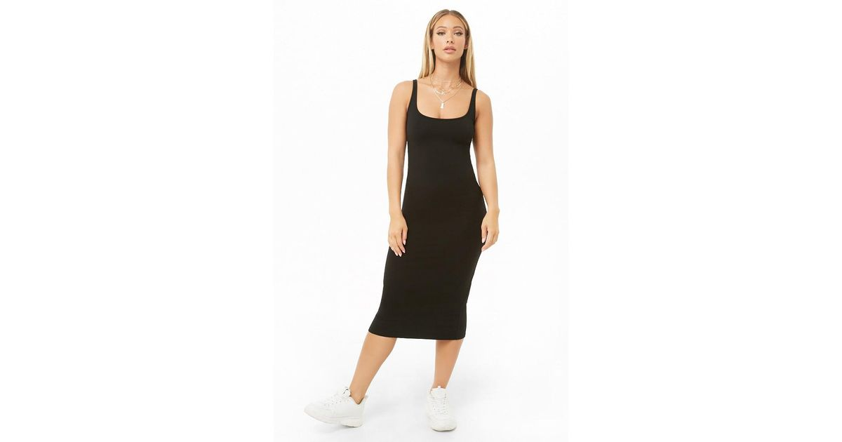 Forever 21 Women s Midi Tank Dress in Black - Lyst aed33fbd70
