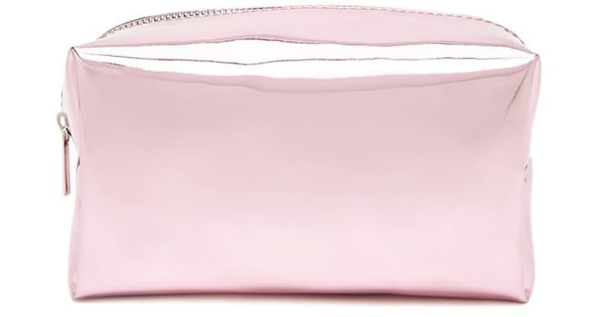 661d214f716 Forever 21 Metallic Makeup Bag in Pink - Lyst