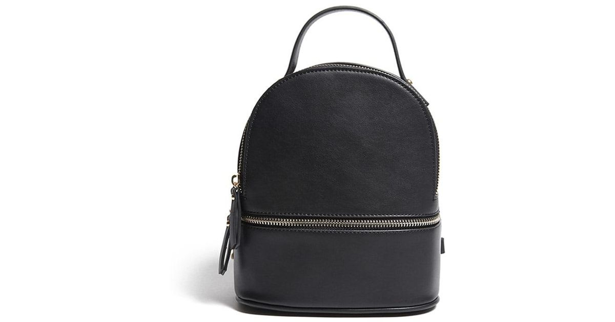 3bb9f59f16 Lyst - Forever 21 Small Faux Leather Backpack in Black