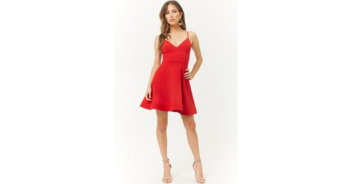 c093879e4d24 Forever 21 Fit & Flare Homecoming Dress in Red - Lyst