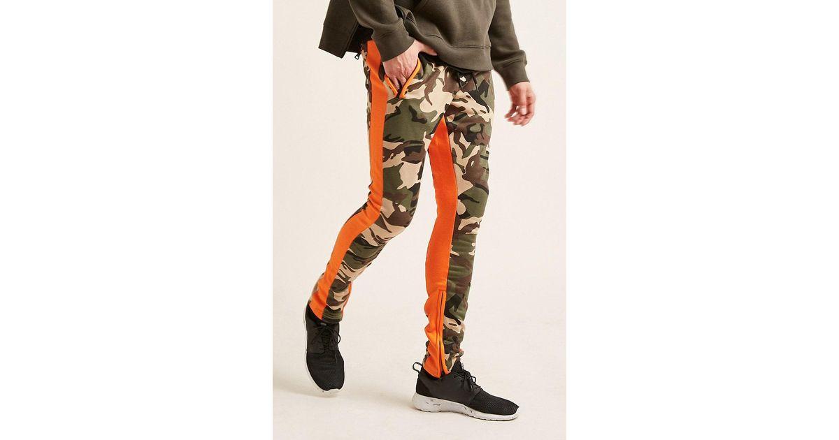 0a67bff02bc9b9 Lyst - Forever 21 Jordan Craig Camo Print Sweatpants in Orange for Men