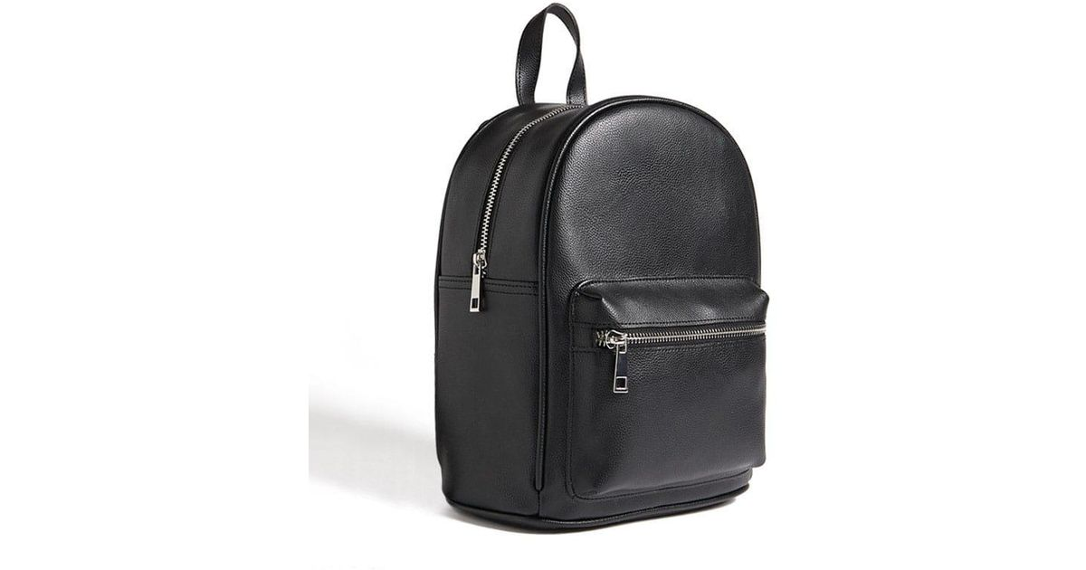 Forever 21 Faux Leather Mini Backpack in Black - Lyst 50559629cad7f