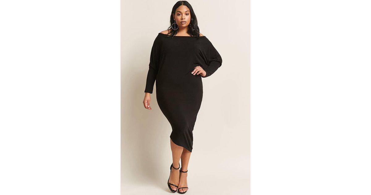 Forever 21 Plus Size Batwing Sleeve Dress In Black Lyst