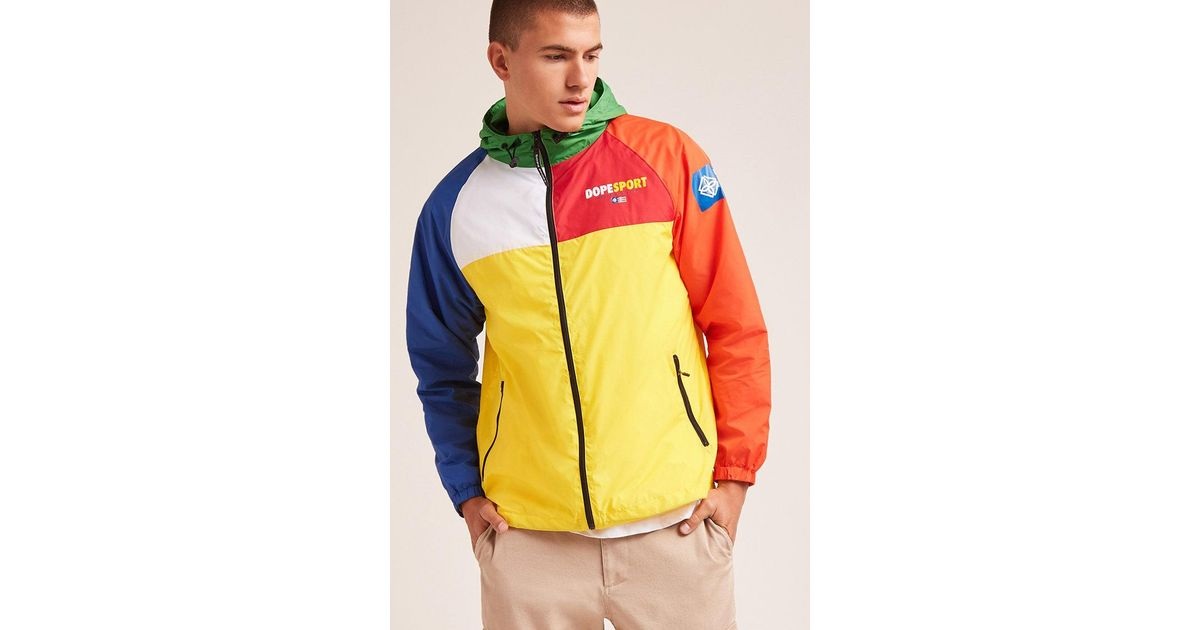 check out 14523 7a9df Forever 21 Dope Colorblock Windbreaker for Men - Lyst