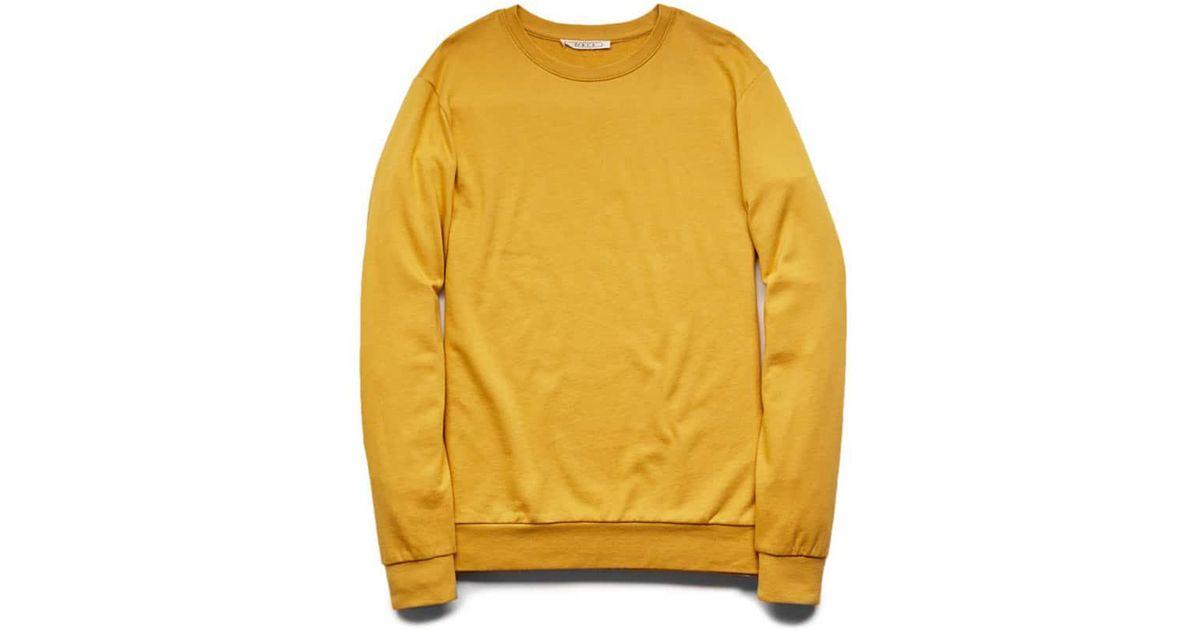 12817077c Forever 21 Classic Crew Neck Sweatshirt in Yellow for Men - Lyst