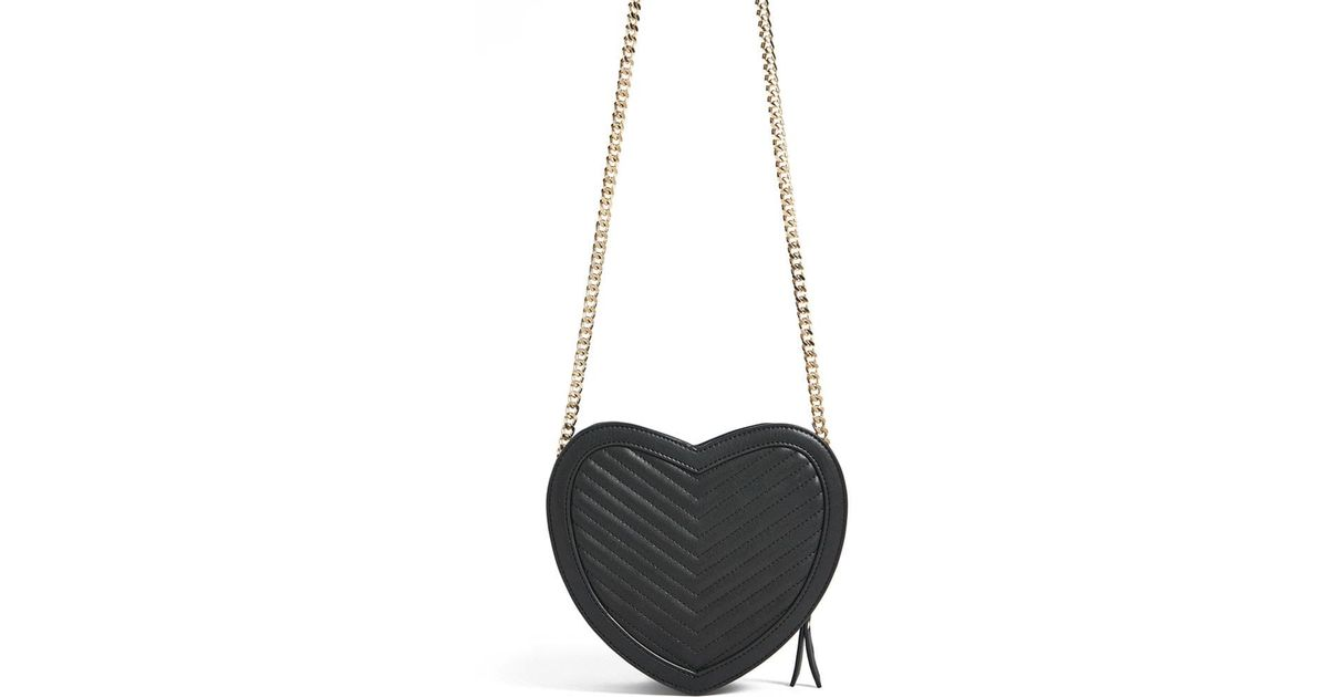 7c6308051 Forever 21 Faux Leather Heart Crossbody Bag , Black in Black - Save 26% -  Lyst