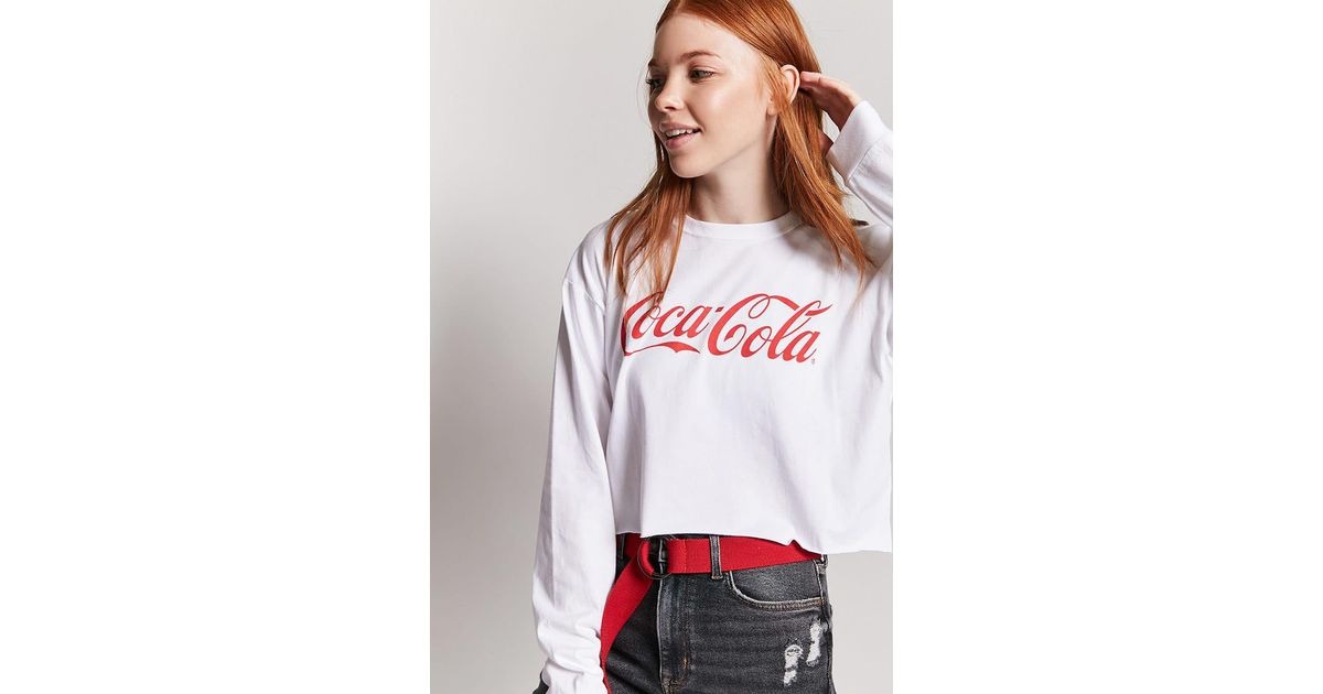 3e4573321c3a7 Lyst - Forever 21 Coca-cola Graphic Logo Tee in White