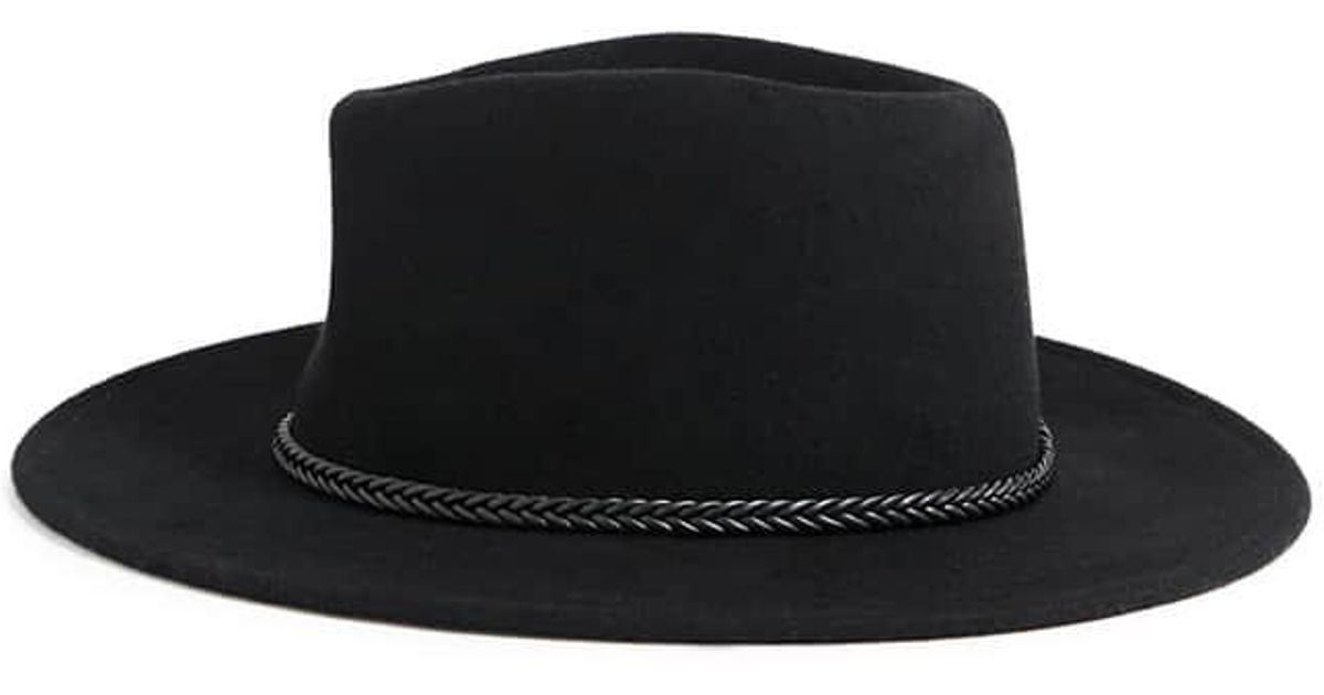 96278c5c8aa Forever 21 Wool Braid-band Fedora in Black - Lyst