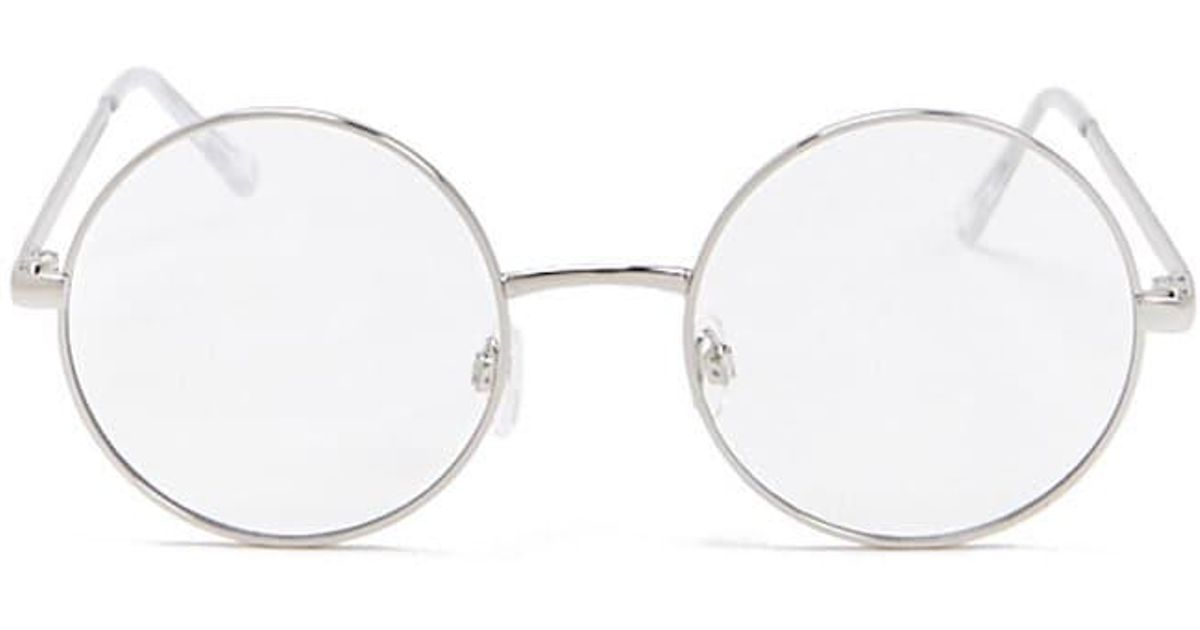 a340b8a5f4 Forever 21 - Round Metallic Readers - Lyst