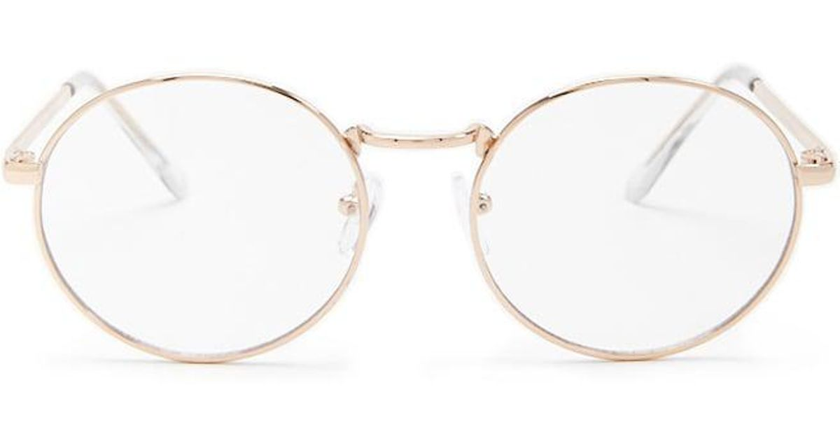 a8ccbe1978 Forever 21 - Metallic Metal Round Readers - Lyst