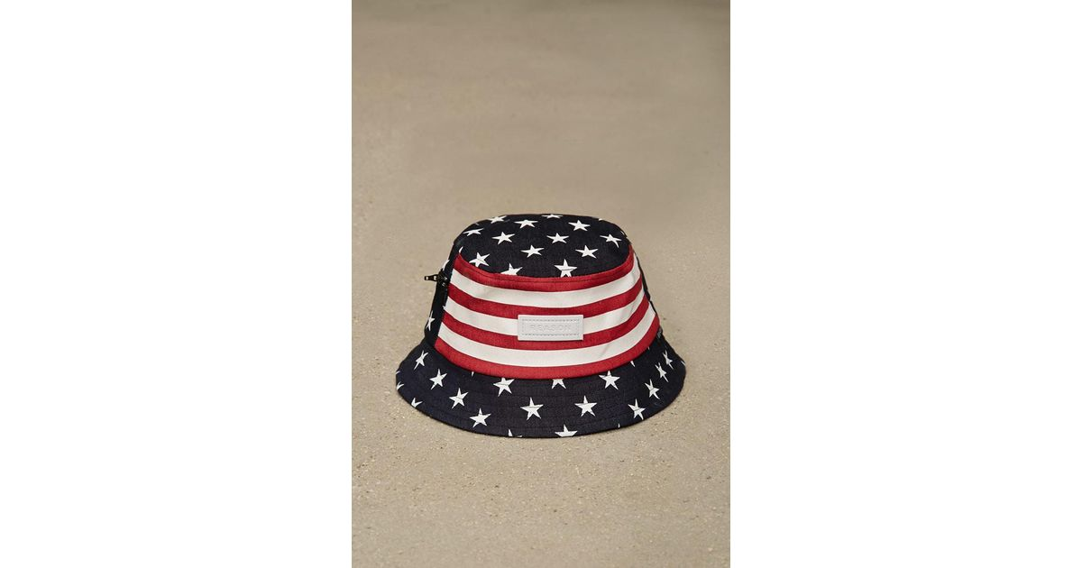 d8e3f9d6b5b88 Lyst - Forever 21 Reason America Bucket Hat in Blue