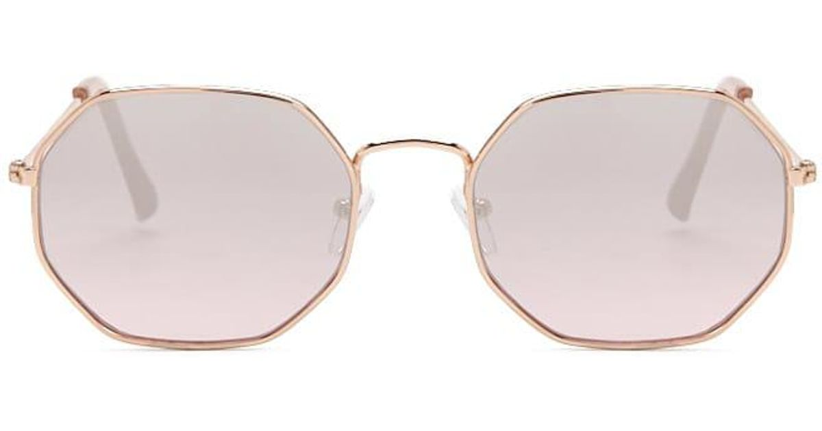 c8bf110ac25d Lyst - Forever 21 Metal Octagon Sunglasses in Pink