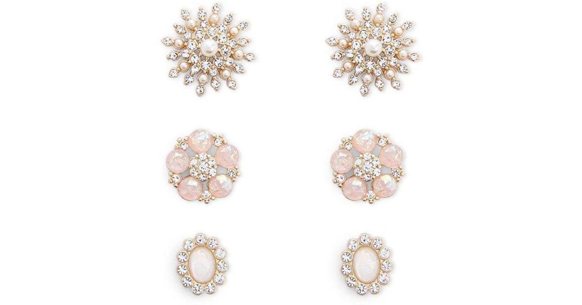 98bde1894 Lyst - Forever 21 Women's Assorted Stud Earring Set in Metallic