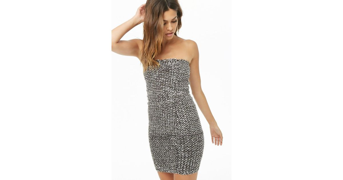 ccb4d4f8f8 Lyst - Forever 21 Sequin Tube Dress in Metallic