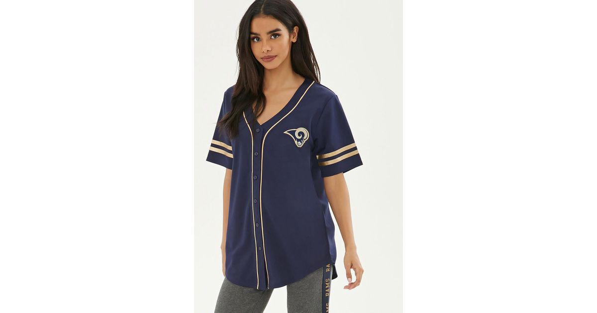 Lyst - Forever 21 Nfl Rams Baseball Jersey in Blue 506594ae1