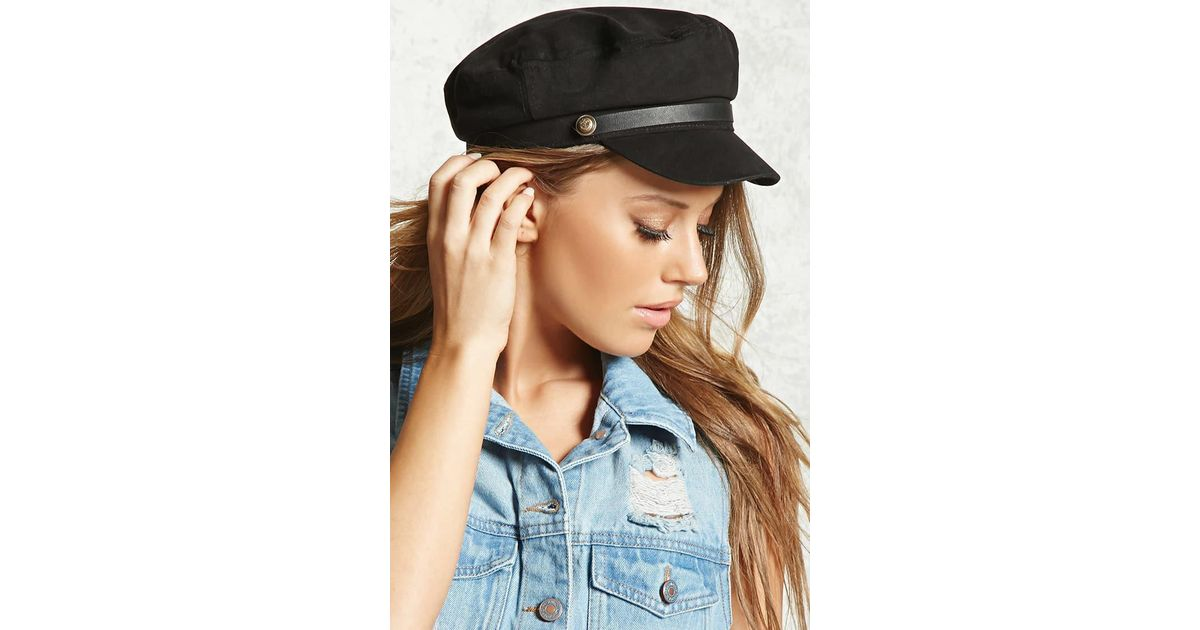 Lyst - Forever 21 Corduroy Cabby Hat in Black 6bef6ed9642