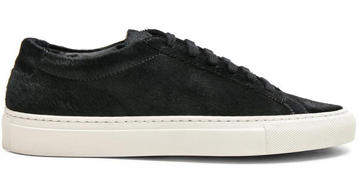 Acne Studios Black Calf-Hair Mercer Sneakers cHcDa7hz